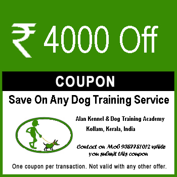 Dog training discount coupon